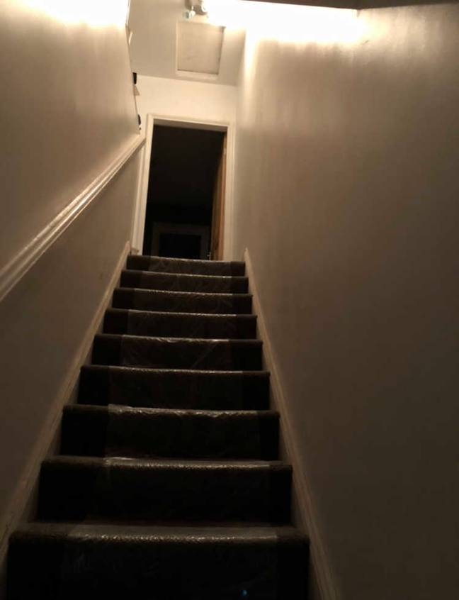 The staircase before. Credit: Triangle News