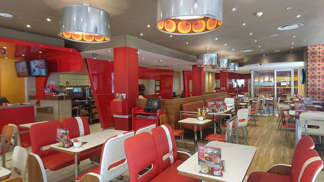 Inside a Wimpys restaurant in South Africa