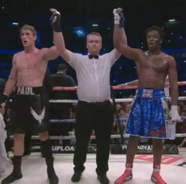 Logan Paul (left) and KSI (right) drew when they fought last year. Credit: YouTube