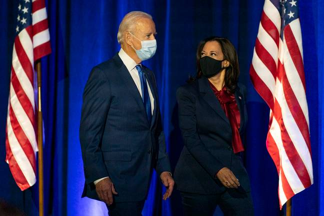 Joe Biden with vice president-elect Kamala Harris. Credit: PA