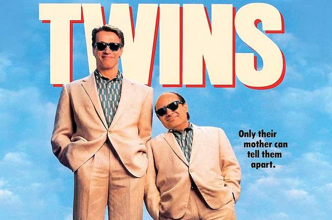 Arnold Schwarzenegger and Danny DeVito in Twins. Credit: Universal Pictures