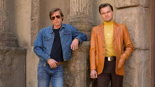 Pitt and Leonardo DiCaprio in Once Upon a Time... in Hollywood. Credit: Sony