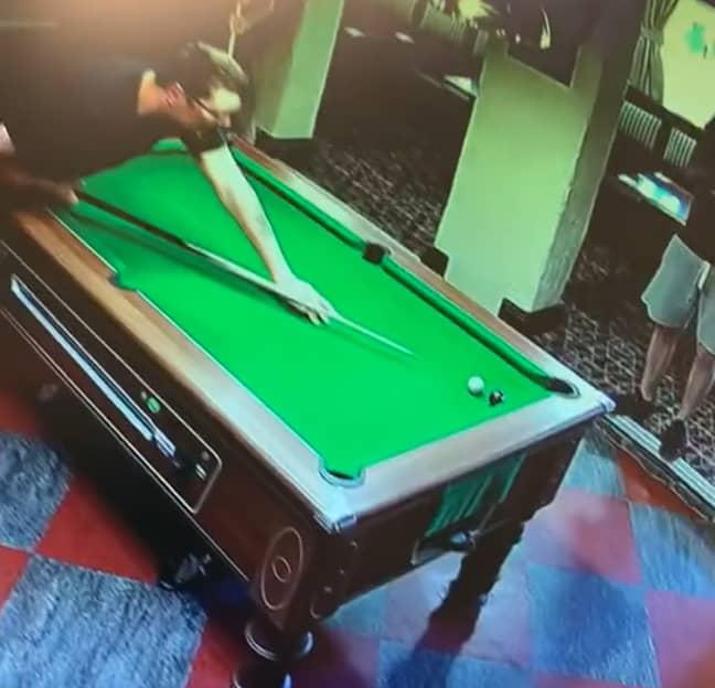 Here's his mate playing safe. Credit: TikTok/@luke23collins
