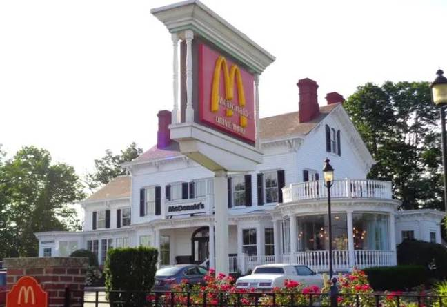 This branch in New York is often called the 'most beautiful' Maccies around.  Credit: Tdorante10/Wikimedia Commons