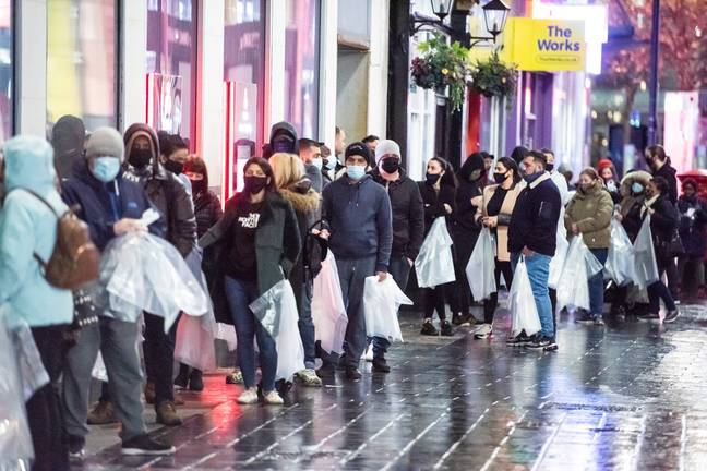 Shoppers in Liverpool were after a bargain. Credit: Caters