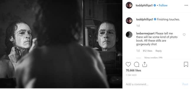 Joaquin Phoenix as the Joker. Credit: Instagram/Todd Phillips