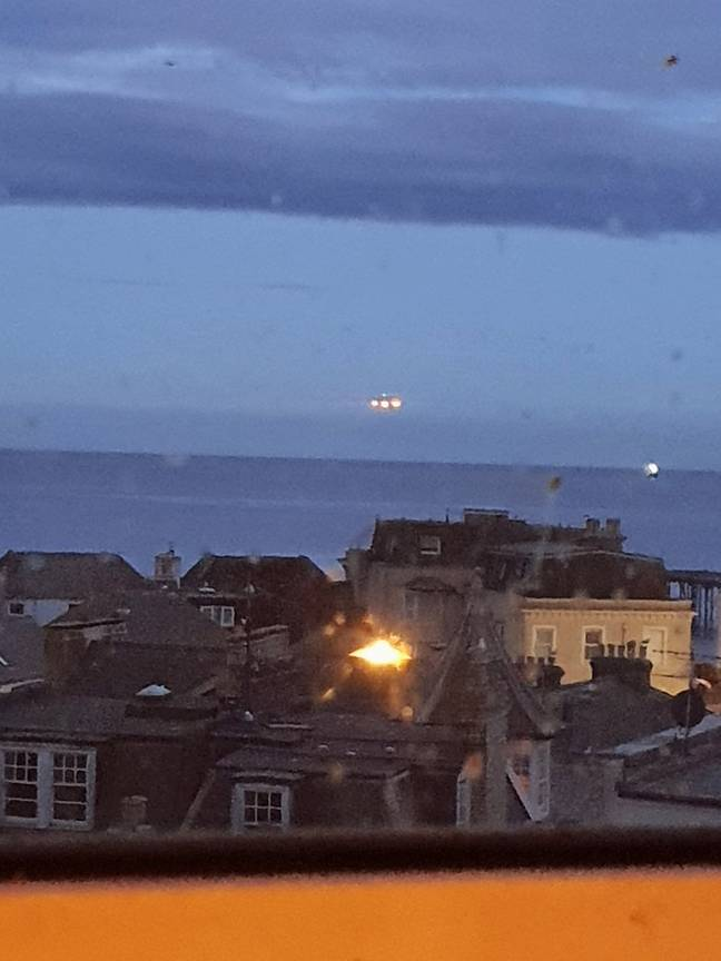 Ships can appear to hover over the horizon like this... Credit: SWNS