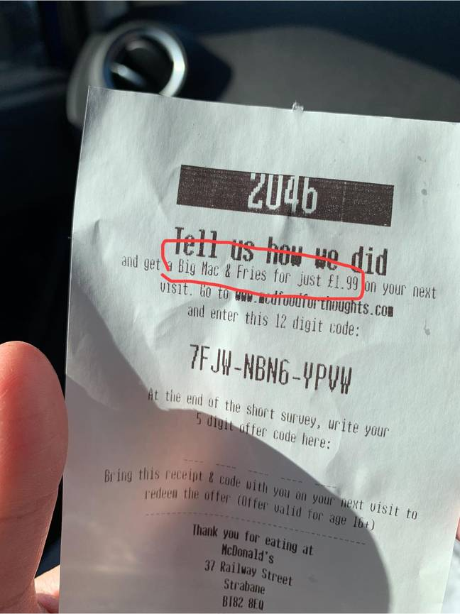 One diner explained why it's important to keep hold of your receipt. Credit: Extreme Couponing and Bargains UK group