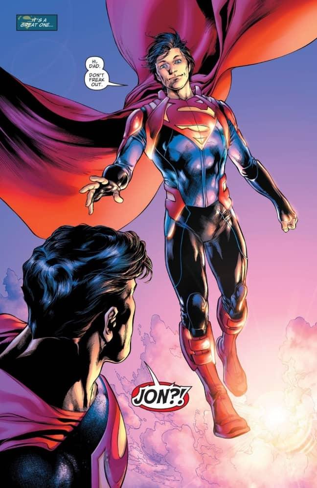 Jon Kent returns to Earth as a 17-year-old boy. (Credit: DC Comics)