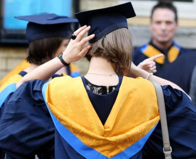 A student graduating from Anglia Ruskin University. Credit: PA