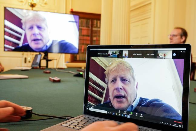 Mr Johnson had been conducting government work from home before being admitted to hospital. Credit: PA