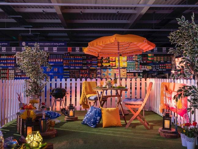 A sneak peek at the set-up for your night in Lidl (Photo Credit: Lidl Ireland)