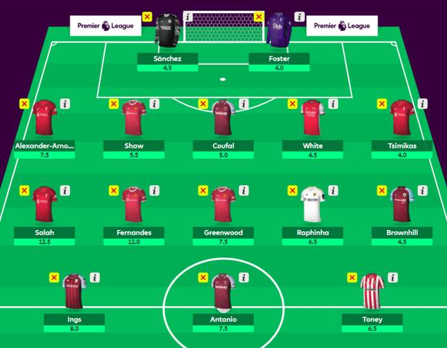 How would this team get on? Credit: Fantasy Premier League