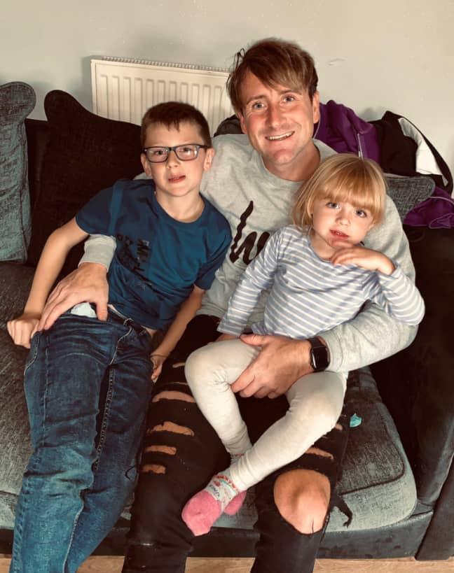 Simon and the kids. Credit: Simon Kindleysides