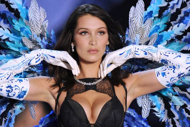 Bella Hadid at the Victoria's Secret Fashion show in Shanghai, 2017 ' Credit: PA