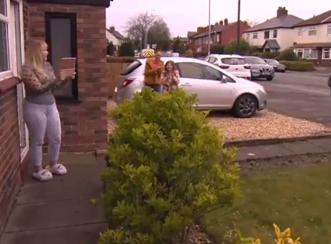 Lucy was gifted a new car to use while hers is on the mend. Credit: BBC