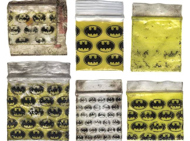 Batman drug baggie