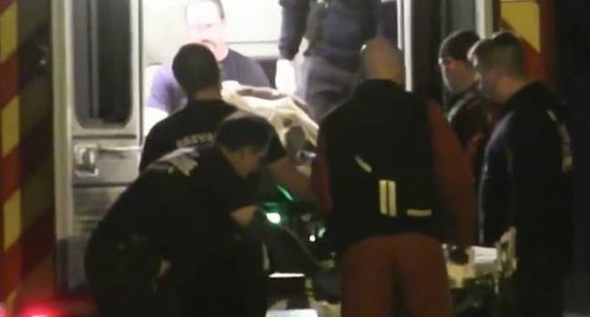 The alleged victim was taken to hospital where he is said to be in a stable condition. Credit: ClickOrlando