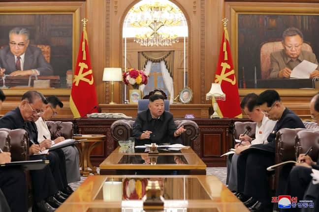 Kim Jong Un on Friday 4 June. Credit: PA