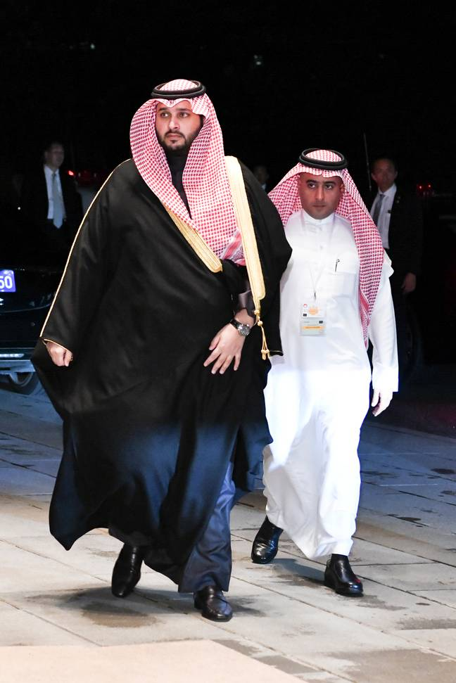 Saudi prince Prince Turki bin Mohamed bin Fahd Al Saud (left). Credit: PA