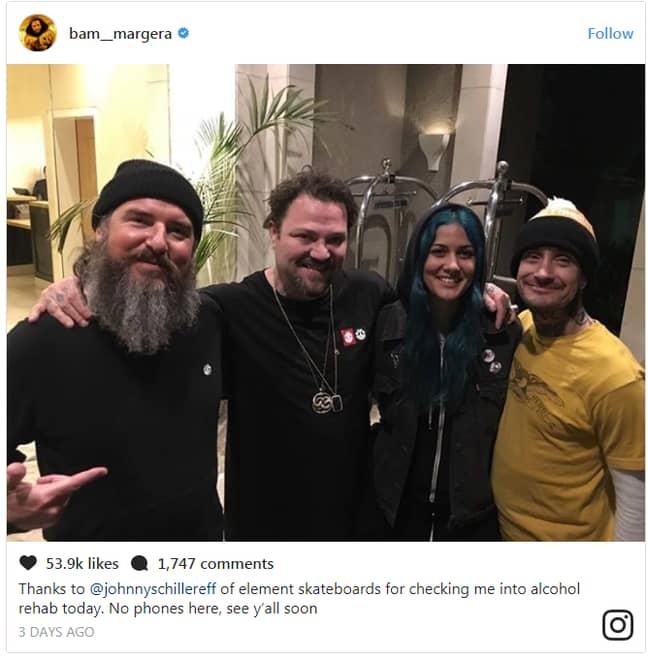 Credit: Instagram/Bam Margera