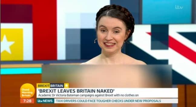 Dr Bateman nude on GMB. Credit: ITV