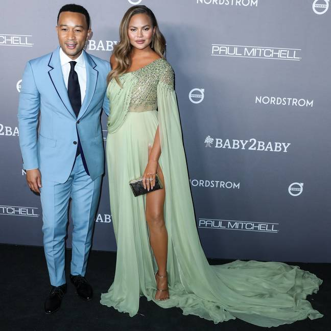 John Legend has been named the sexiest man alive and his wife Chrissy Teigen is delighted. Credit: PA
