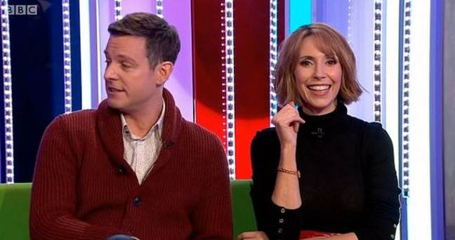 Alex Jones and Matt Baker were somewhat taken aback. Credit: BBC One