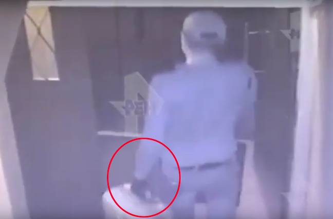 The man was seen entering the block of flats. Credit: East2West News
