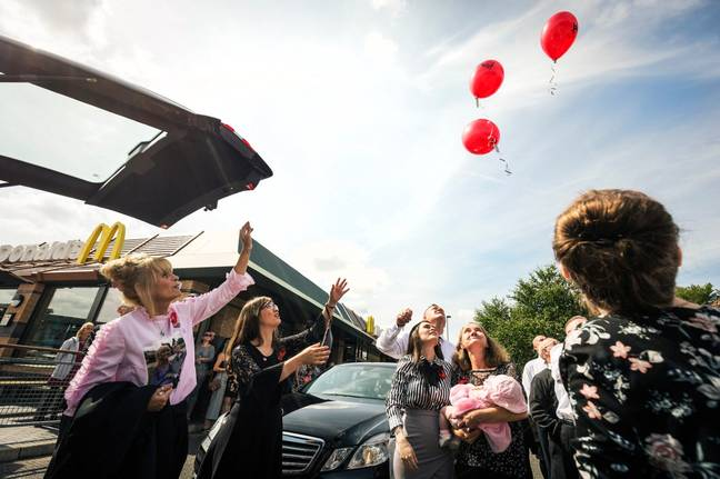 Joshua Connolly-Teale's funeral procession went via Maccies. Credit: Co-op Funeral Care