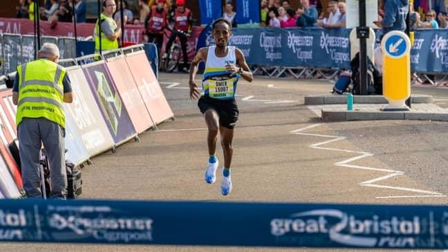 Omer Ahmed won the half marathon. Credit: Great Run Company