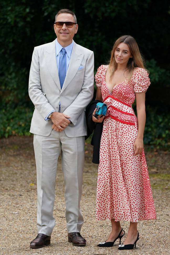 David Walliams and Keeley Hazell arriving at the ceremony. Credit: PA