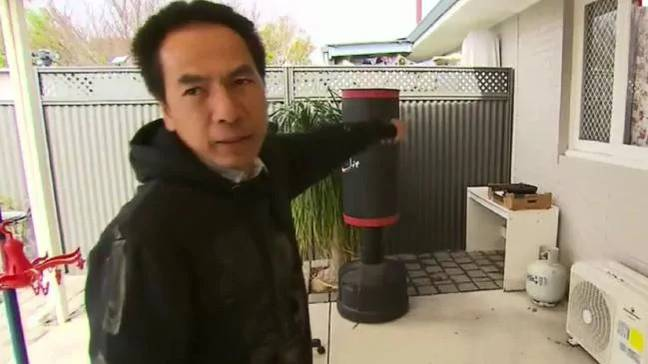 Mr Vu says he has moved the barbecue. Credit: Nine News