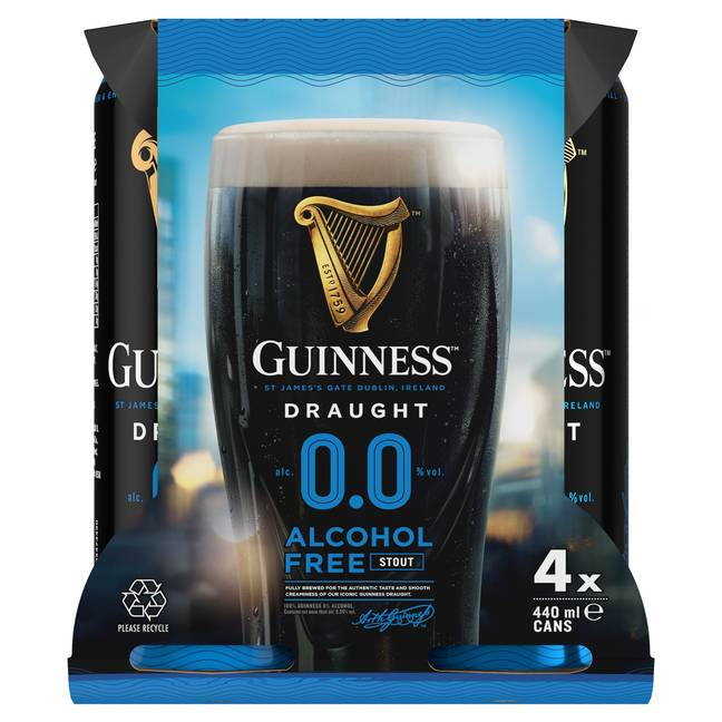 You can buy it in a pack of four. Credit: Guinness