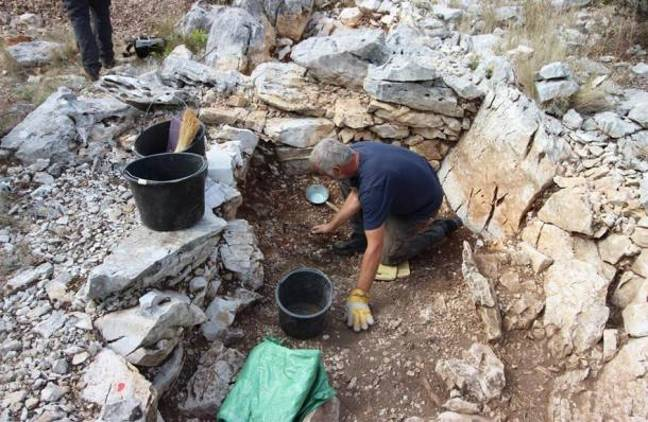 Here's the tomb that the helmet was discovered in. Credit: Dubrovnik Museums