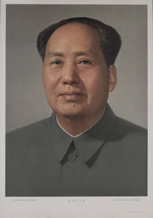 A picture of the late Mao Zedong hung in Beijing's Tiananmen square prior to the 2008 Olympic Games. Credit: PA