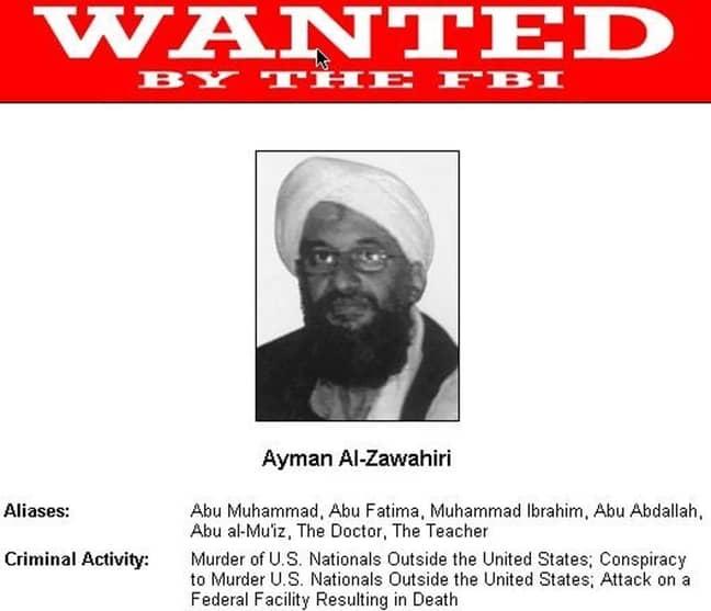 Ayman Al-Zawahiri is wanted by the FBI. Credit: PA