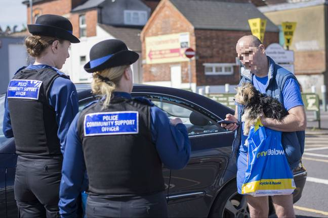 The dog owner spoke with officers. Credit: SWNS