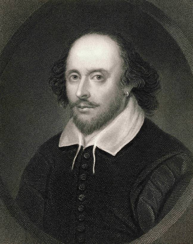 A portrait of playwright William Shakespeare, who died in 1616. Credit: PA