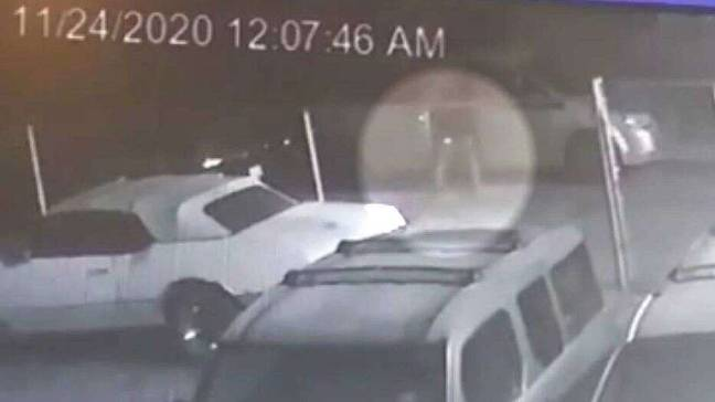 The garage owner checked CCTV after finding the evidence.