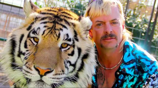 Joe Exotic has collaborated with a designer to release a revenge-themed line of clothing. Credit: Netflix