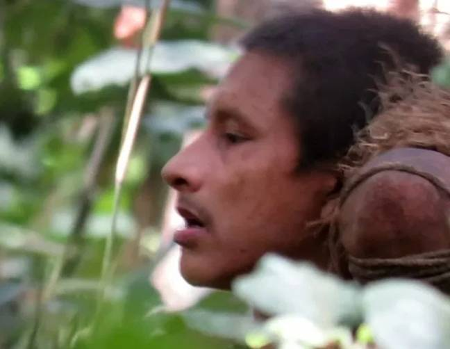 Footage of the indigenous tribe was released last month. Credit: Midia India