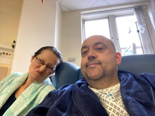 Tracy and Steve in hospital. Credit: Storytrender