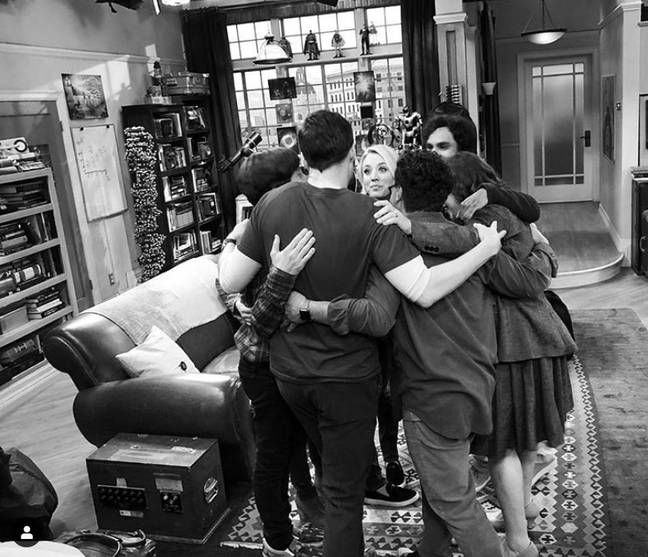 Kaley posted a shot of the cast's final scene together. Credit: Instagram/Kaley Cucuo