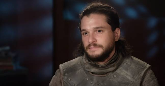 Kit Harington sharing a little too much information about filming Game of Thrones. Credit: HBO