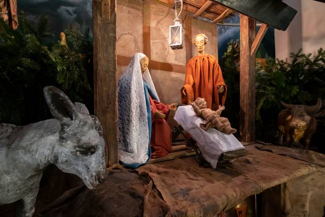 The traditional nativity. Credit: PA