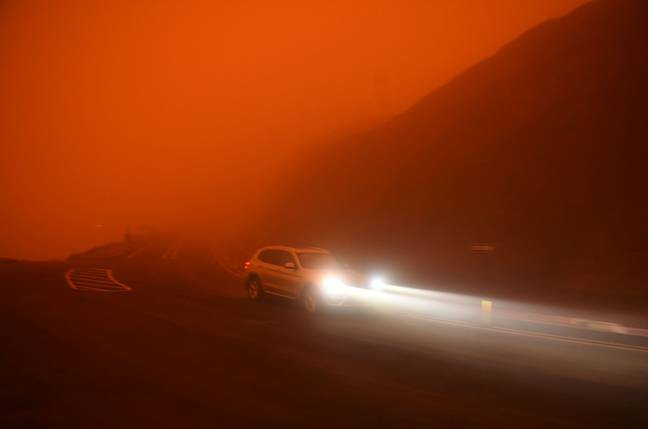 A car on the road near the Golden Gate Park at noon in San Francisco. Credit: PA