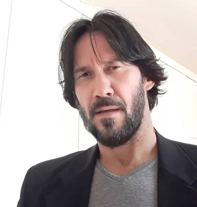 Keanu Reeves taking a selfie here, right? Instagram/Marcos Jeeves