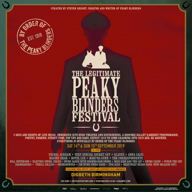 The festival will hit Birmingham next month. Credit: The Legitimate Peaky Blinders Festival