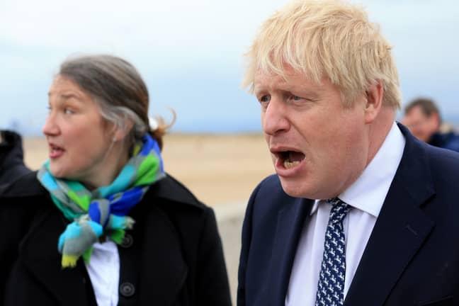 Boris Johnson campaigning in Hartlepool. Credit: PA